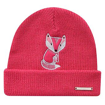 Nevica Girls Foxy Beanie Gl11 Ski Hat Winter Knitted Embroidered Outdoor