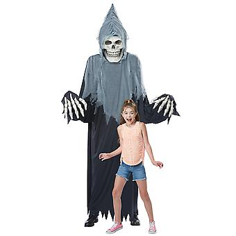 Towering Terror Grim Reaper Giant Skeleton Halloween Decoration Mens Costume