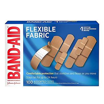 Band-Aid BAND-AID Flexible Fabric Adhesive Bandages Assorted, 100 each