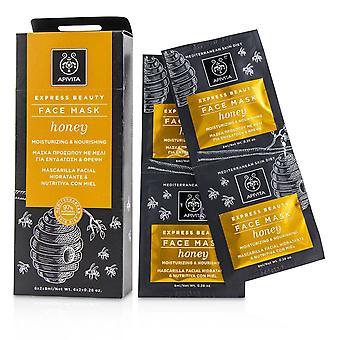 Express Schönheit Gesichtsmaske mit Honig (feuchtigkeitsbefeuchtend & nährend) 230853 6x(2x8ml)