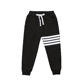 Autumn Winter Casaul Sport Striped Cotton Joggers Casual Track Pants Trousers For Kids/ Boy/ Girl