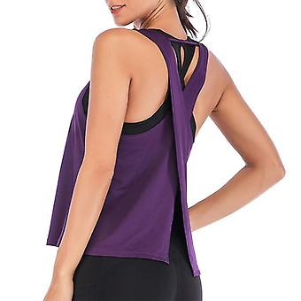 Women Summer I-shaped Back Vest Tanks Top- Running Sport Shirt, Gym Yoga Top,