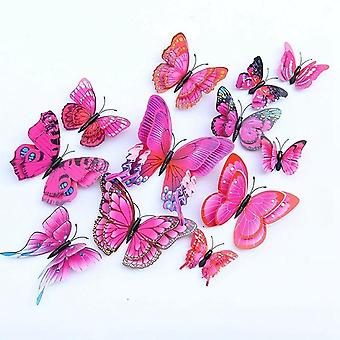 3d Double Layer Wings Butterfly Wall Stickers