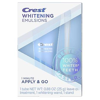Crest emulsions leave-on teeth whitening treatment with whitening wand and stand, 0.88 oz