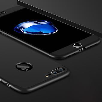 GKK voor iPhone 7 Plus PC Drie - paragraaf Shield 360 Graden Volledige dekking Beschermhoes Back Cover (Zwart)