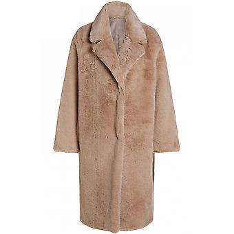 Oui Cobblestone Faux Manteau de fourrure