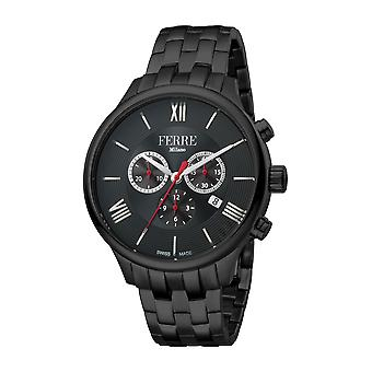 Ferre Milano Men's Black Dial Black PVD Bracelet Watch