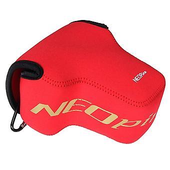 NEOpine النيوبرين شوكة حقيبة لينة حالة مع هوك ل Nikon P900s الكاميرا (الأحمر)