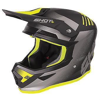 Shot Furious 2020 MX Helmet Adult Trust Matt Black Neon Yellow ACU Approuvé