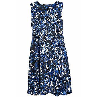 Multi Print Bez rukávů Jewel Výstřih A-line šaty
