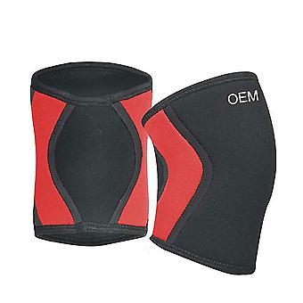 L Tamaño Negro Rojo Material de Buceo Neopreno Baloncesto Running Fitness Rodilleras,