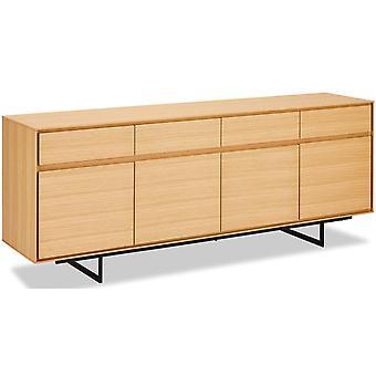 Ibbe Design Tokyo Sideboard Große Eiche, 205x45x82 cm