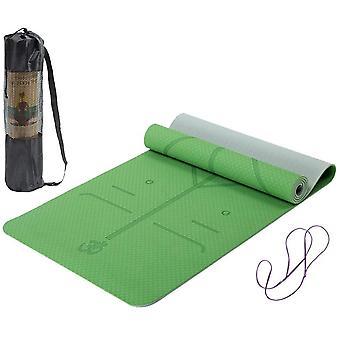 Lixada Yoga Mat TPE Pilates Mat Non Slip Exercise Mat, 183 * 61 * 0.6cm
