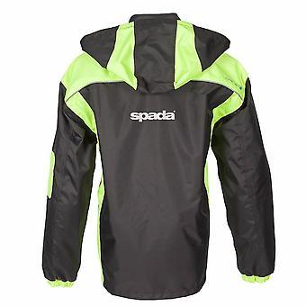 Spada Aqua Unisex's Motorcycle Jacket Black Waterproof Breathable Hi-Vis Winter