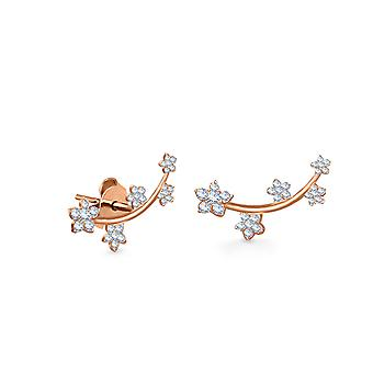 Earrings Fairy Blossom 18K Gold and Diamonds