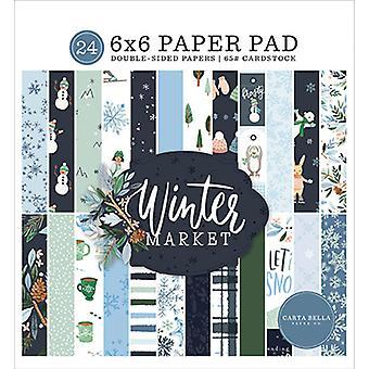 Carta Bella Talvimarkkinat 6x6 Tuuman Paperityyny