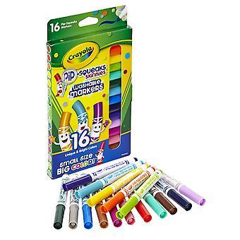 Crayola Pip-Squeaks Skinnies Marker, feine Spitze, 16 Farben