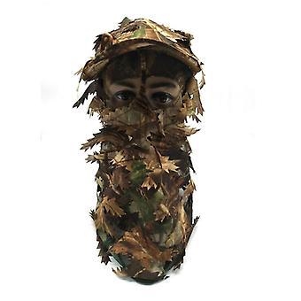 قبعة التمويه وقناع الوجه الكامل للصيد البري
