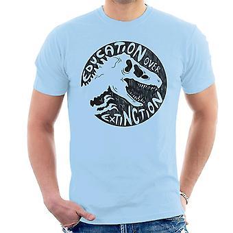 Jurassic Park Bildung über Extinction Männer's T-Shirt