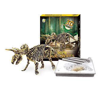 Dinosaur Fossil Archaeological Excavation Toys Triceratops