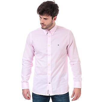 Men's Tommy Hilfiger Soft Touch Pure Cotton Dobby Shirt in Pink