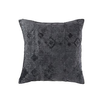 20 X 20 Cotton Accent Pillow With Ikat Pattern, Set Of 4, Slate Gray