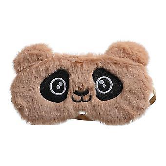 Kids Panda Peluche Eye Mask, Cute Rabbit Sleeping, Bendfold For, Winter Travel