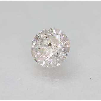 Certified 0.75 Carat G Color Round Brilliant Enhanced Natural Diamond 5.38mm