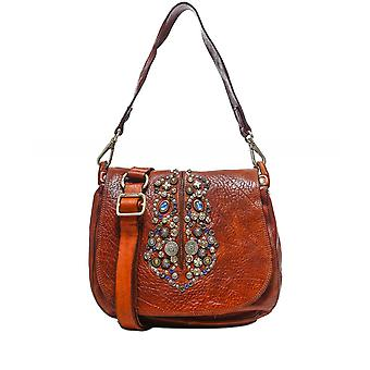 Campomaggi Embellished Leather Flap Bag