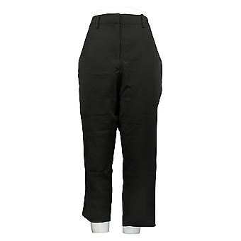BROOKE SHIELDS Timeless Women's Petite Woven Ankle Pants Black A342019