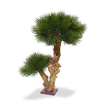 Artificial Faux Pine Bonsai 55 cm op houten onderstel