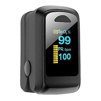 المحمولة المنزلية الإصبع oximeter الأكسجين تشبع معدل ضربات القلب رصد بيضاوي اللون أدى شاشة العرض oximeter