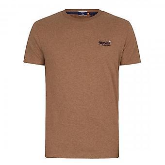 Superdry OL Vintage Brodé T-Shirt Tan Marl R6W