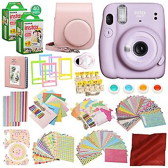 Fujifilm instax mini 11 instant filmkamera med 168-delt tilbehørspakke x2 fujifilm instax mini øyeblikkelig filmkameraveske med stropp, ps31367