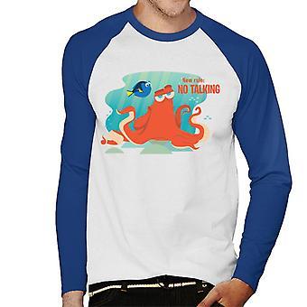 Pixar Finding Dory Hank New Rule No Talking Men's Baseball Long Sleeved T-Shirt