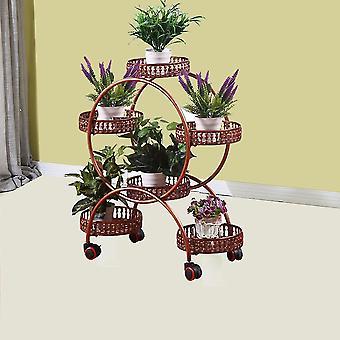 Plant Stand, Universal Wheel Flower Holder, for Indoor Garden Balcony