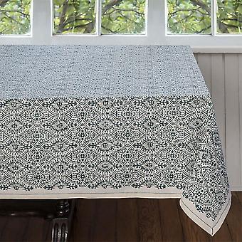 Spura Home Hand Made Indian Oriental Motifs Fog Cotton TableCloth 5'x5'
