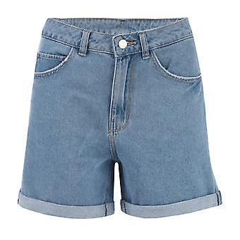 Naisten Vero Moda Yhdeksäntoista high rise löysät shortsit sinisellä