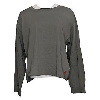 Peace Love World Women's Top Relaxed Shirt Gray A377533