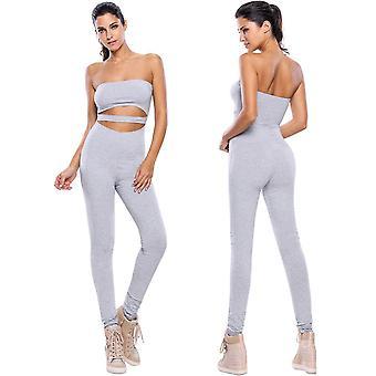 женщины rompers капри длинные брюки вырез без бретелек фитнес bodycon