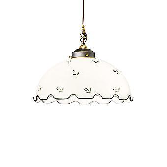 Kolarz NONNA - Hytte stil glass dome anheng lys matt antikk messing, 1x E27