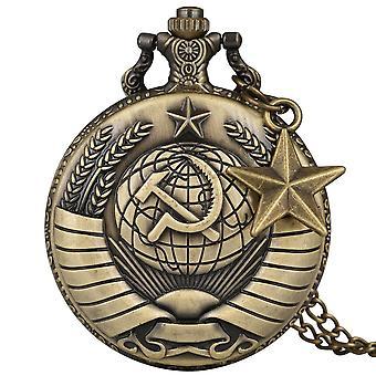 Soviet Union Symbol Of Communism Pendant Ussr Pocket Watch