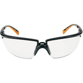 م 3 م 71505-00001 م 3 هارديوم النظارات Solus أسود اللون البرتقالي معبد واضحة