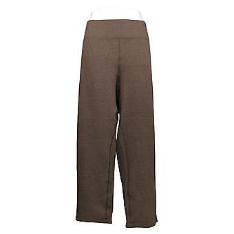 Women With Control Women's Petite Pants Reversible Slim Leg Brown A390043
