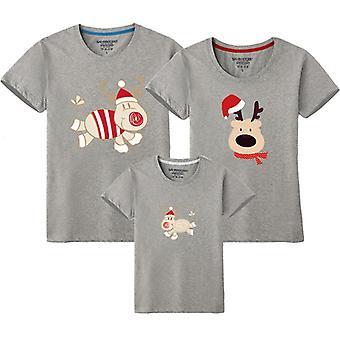 Pai mãe bebê terno da família, camiseta da família