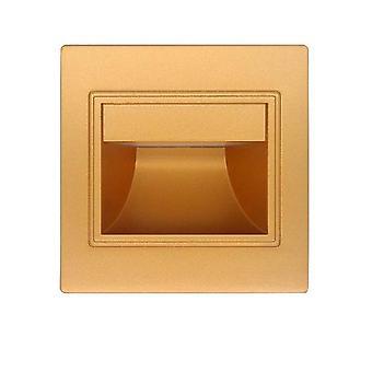 LED induction embedded corner step light(Golden)