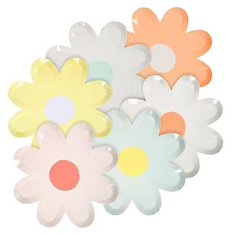 Meri Meri Colourful Daisy Flower Paper Party Plates x12