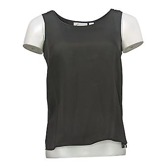 Linea By Louis Dell'Olio Women's Top XXS Crinkle Georgette Tank Black A214117