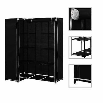 vidaXL خزانة الزاوية السوداء 130 × 87 × 169 سم