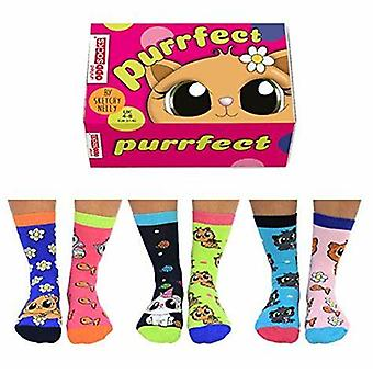United Oddsocks Purrfect Ladies Socks